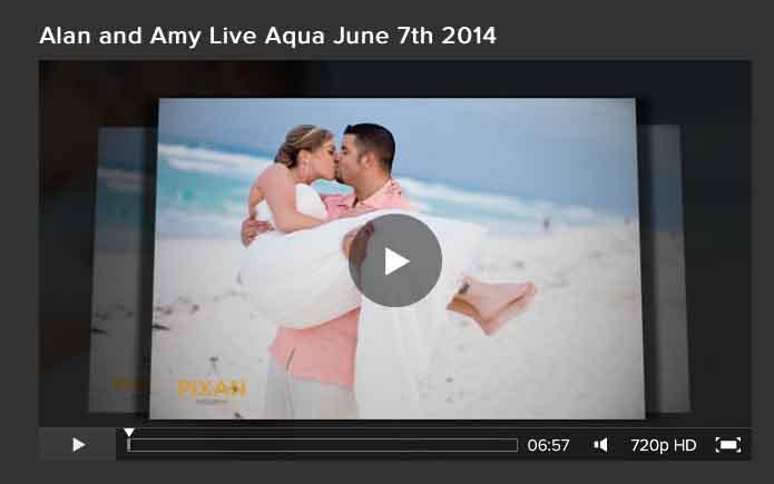 Live Aqua Cancun - Wedding - Alan and Amy - Slideshow