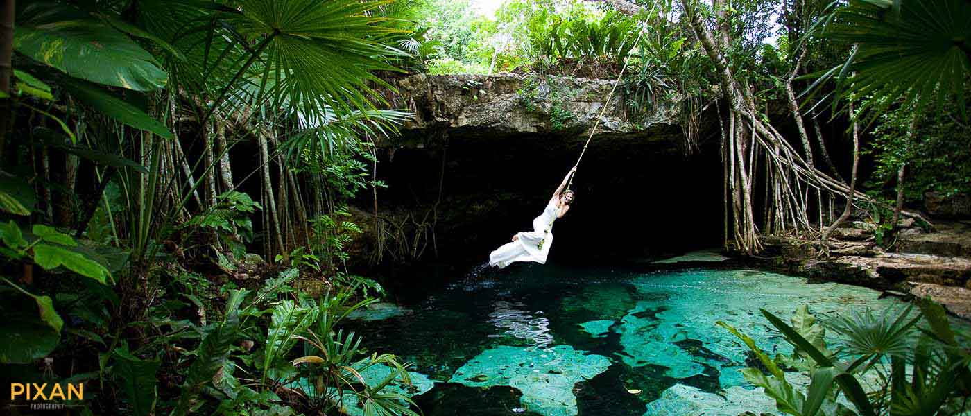 Riviera-Maya-Trash-The-Dress-bride-swing