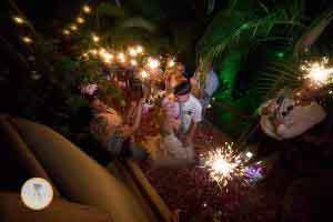 Sparklers wedding Mexico