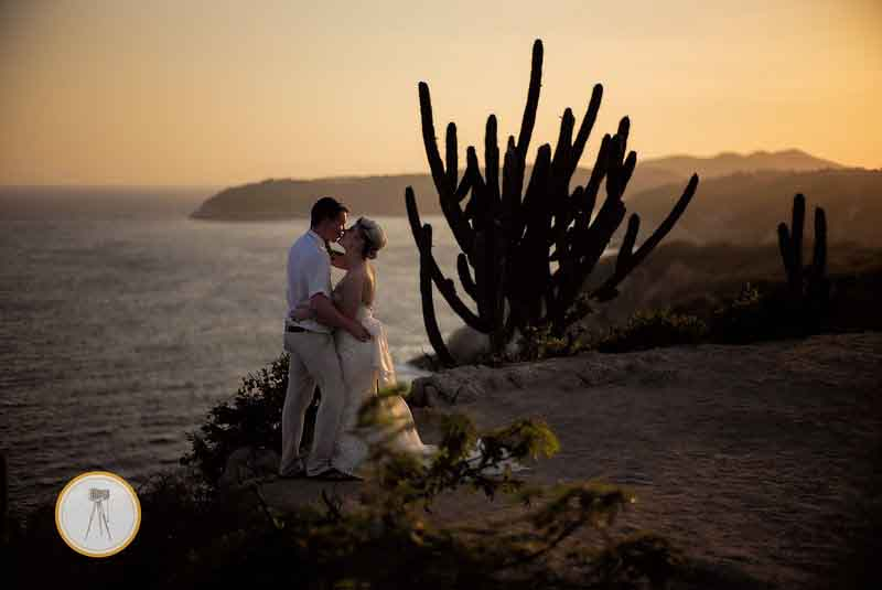 Sunset wedding photography Mexico