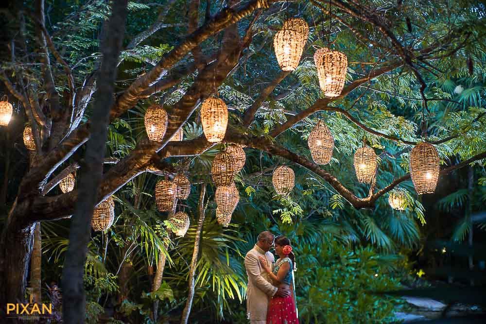 Outdoor hanging wedding decor