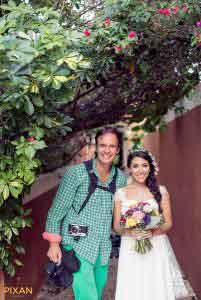 photographer Vincent van den Berg with bride