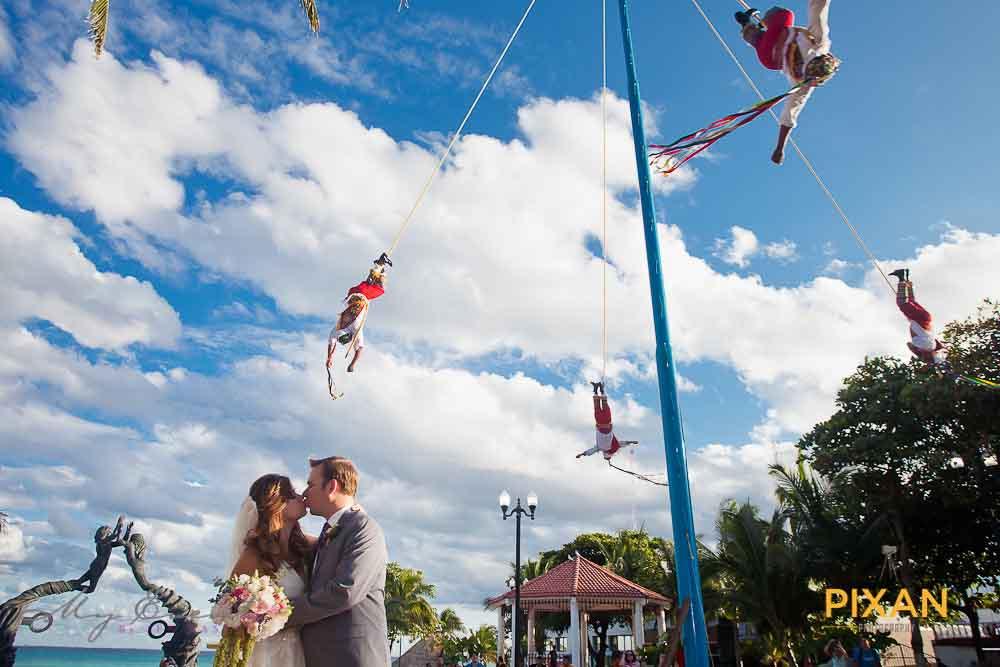 Carnival-inspired summer destination wedding