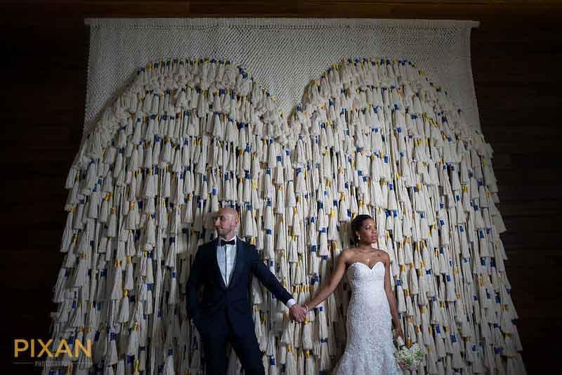 Creative tassel background for wedding