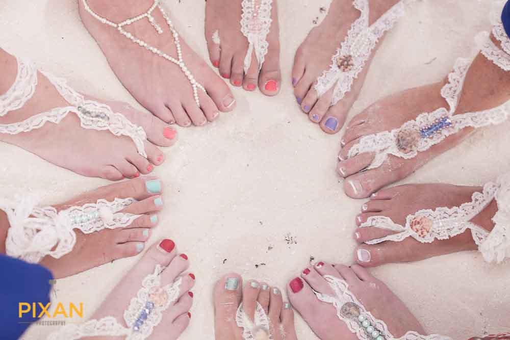 Bridal sandal styles for summer beach wedding