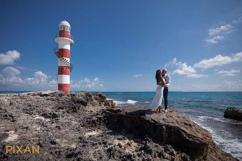 Summer wedding natural cliff scenery photography