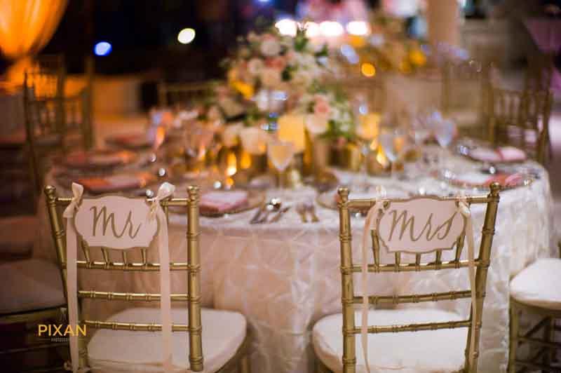 wedding reception seating decoration