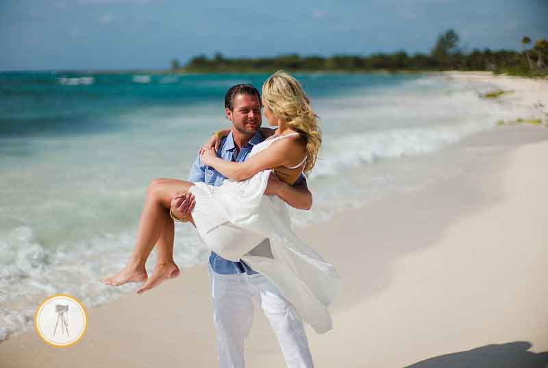 Riviera Maya Beach wedding photo
