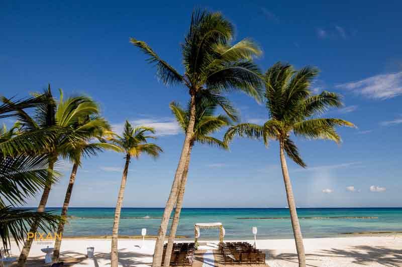 wow caribbean beach destination wedding ceremony setup, Grand Velas Riviera Maya