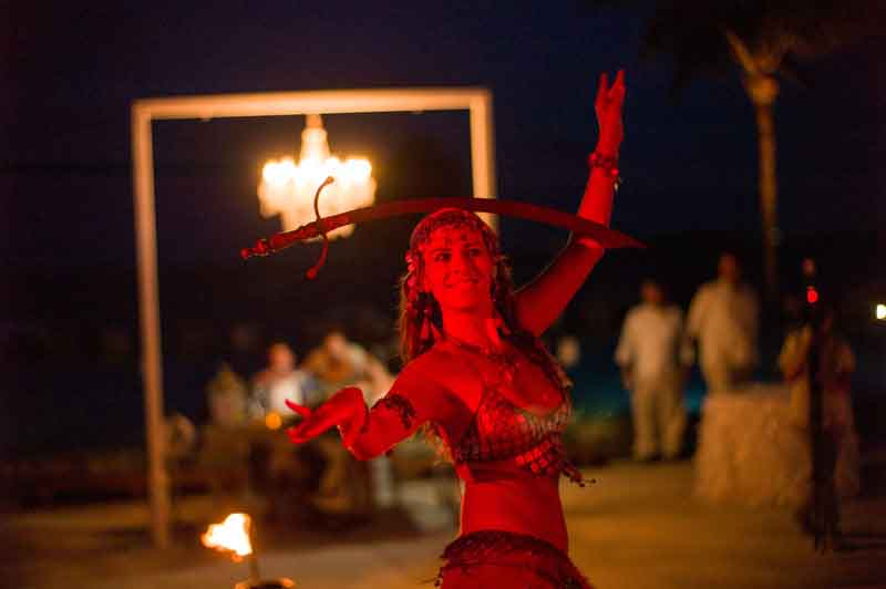 fire and belly dancers