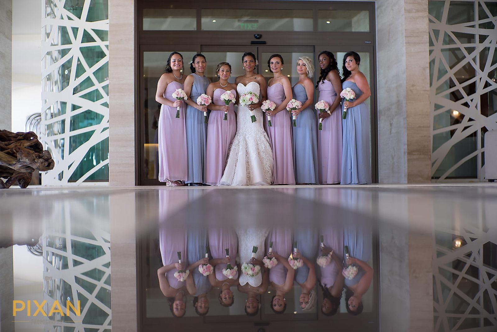 Hyatt Ziva Cancun bridesmaids