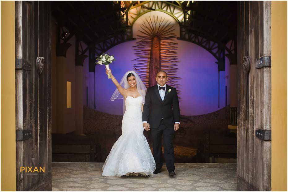 chapel of guadalupe xcaret wedding ceremony