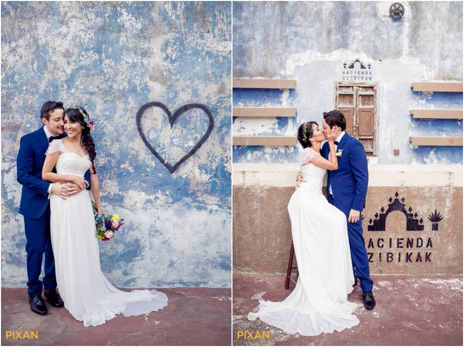 couple gets married at hacienda in the yucatan