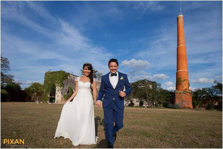 outdoor wedding yucatan mexico
