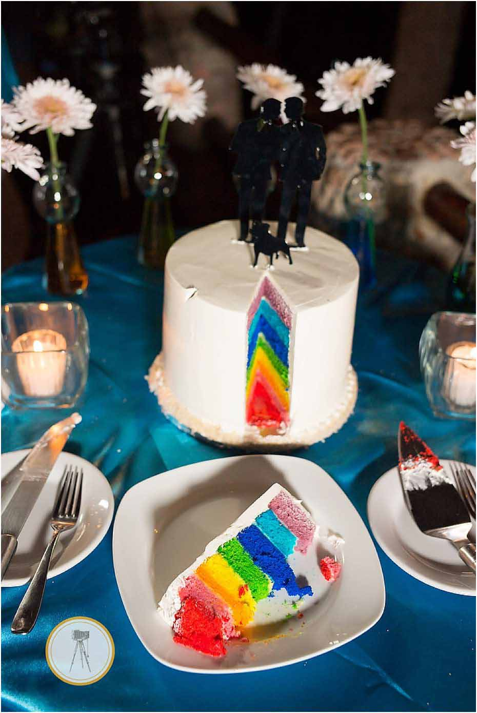 rainbow pride wedding cake puerto vallarta