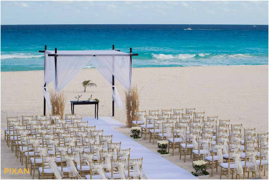 ceremony decor pictures le blanc resort wedding