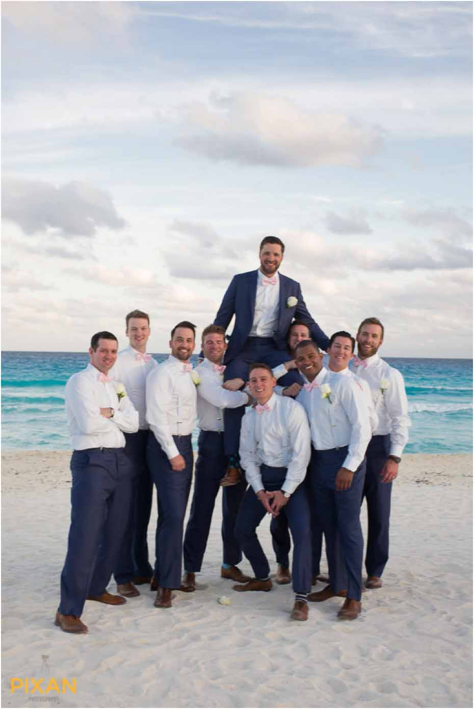 groomsman portraits le blanc resort wedding