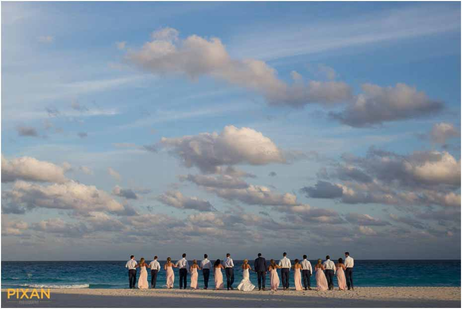 wedding part photos le blanc cancun