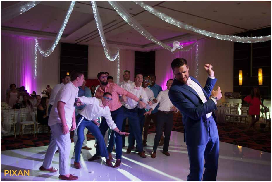 garter toss le blanc resort wedding