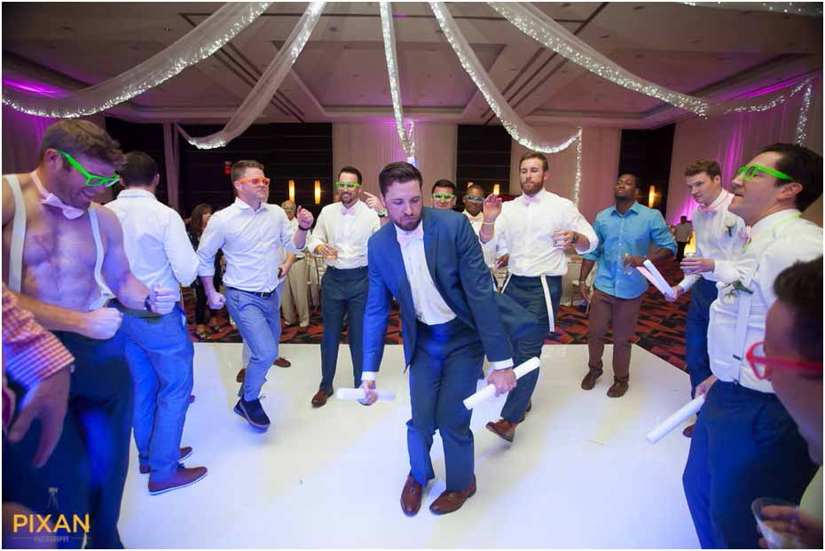 grooms dance at le blanc wedding reception