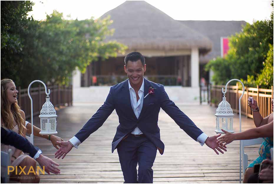 Groom photos Paradisus Playa del Carmen Mexico