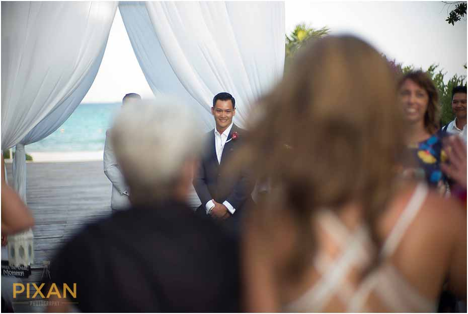 Wedding ceremony at Playa del Carmen Paradisus