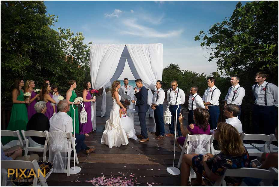 Paradisus Playa del Carmen wedding ceremony