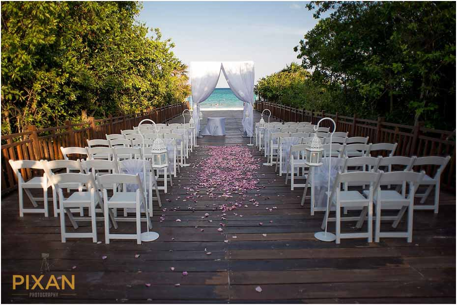 Paradisus Playa del Carmen wedding ceremony decor photo