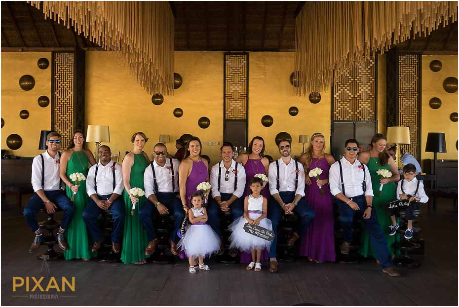 Bridal party photos Paradisus Playa del Carmen