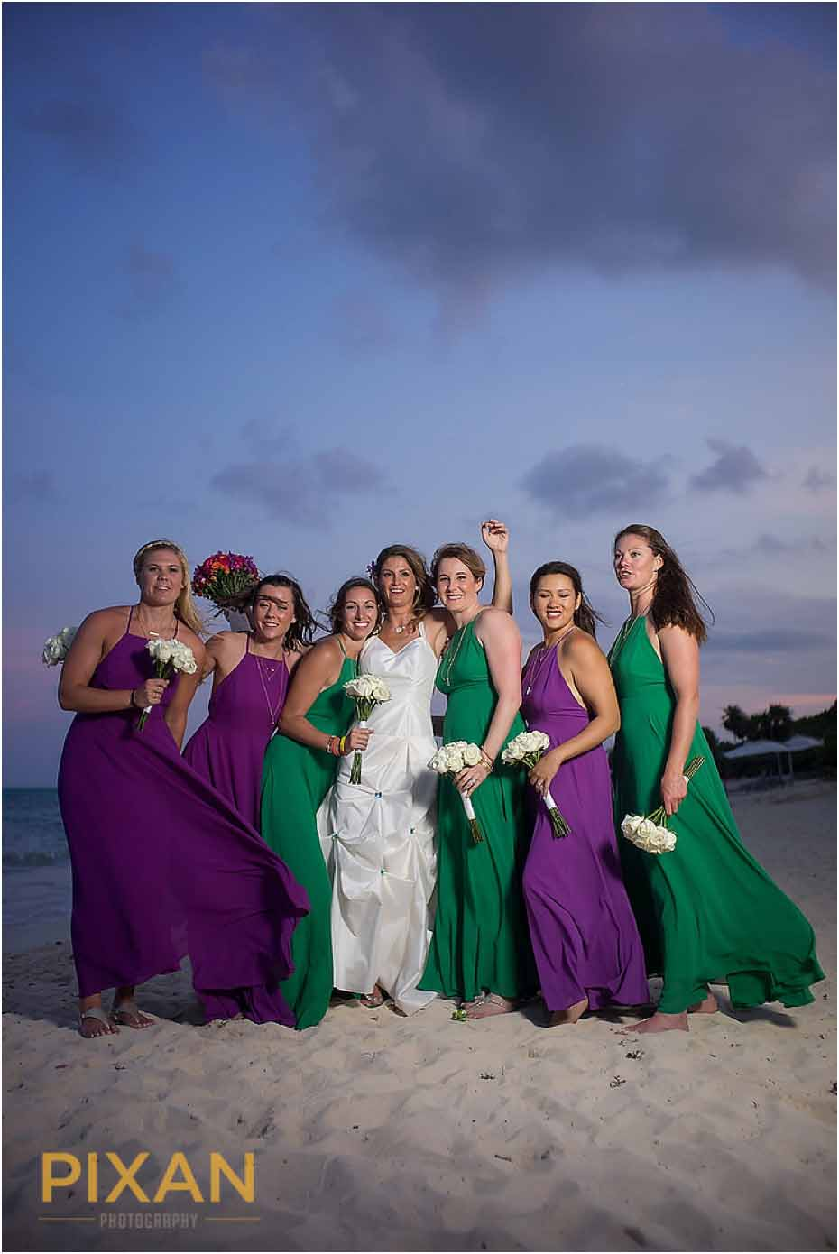Beach wedding photos Paradisus Playa del Carmen