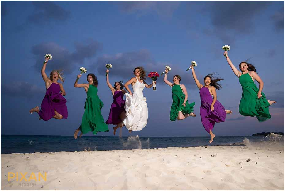 Paradisus Playa del Carmen beach wedding photography