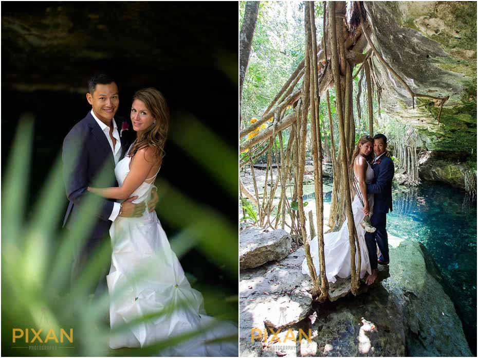 Cenote wedding adventure Playa del Carmen