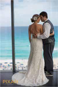 secrets the vine wedding first look photos
