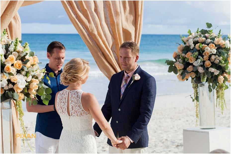 beach ceremony in tulum