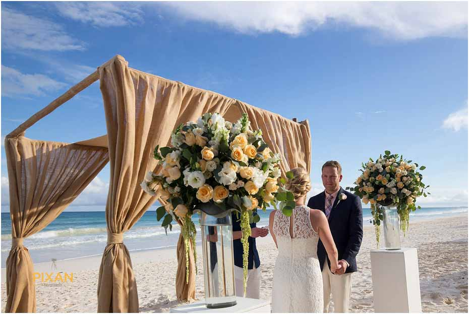 mexico rainbow beach wedding photos