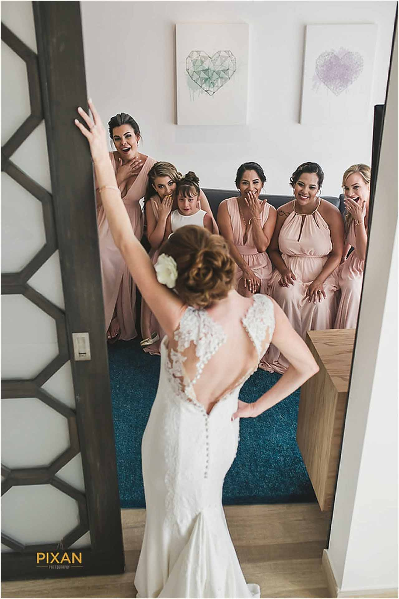 Bridesmaid photos Azul Fives Hotel Wedding