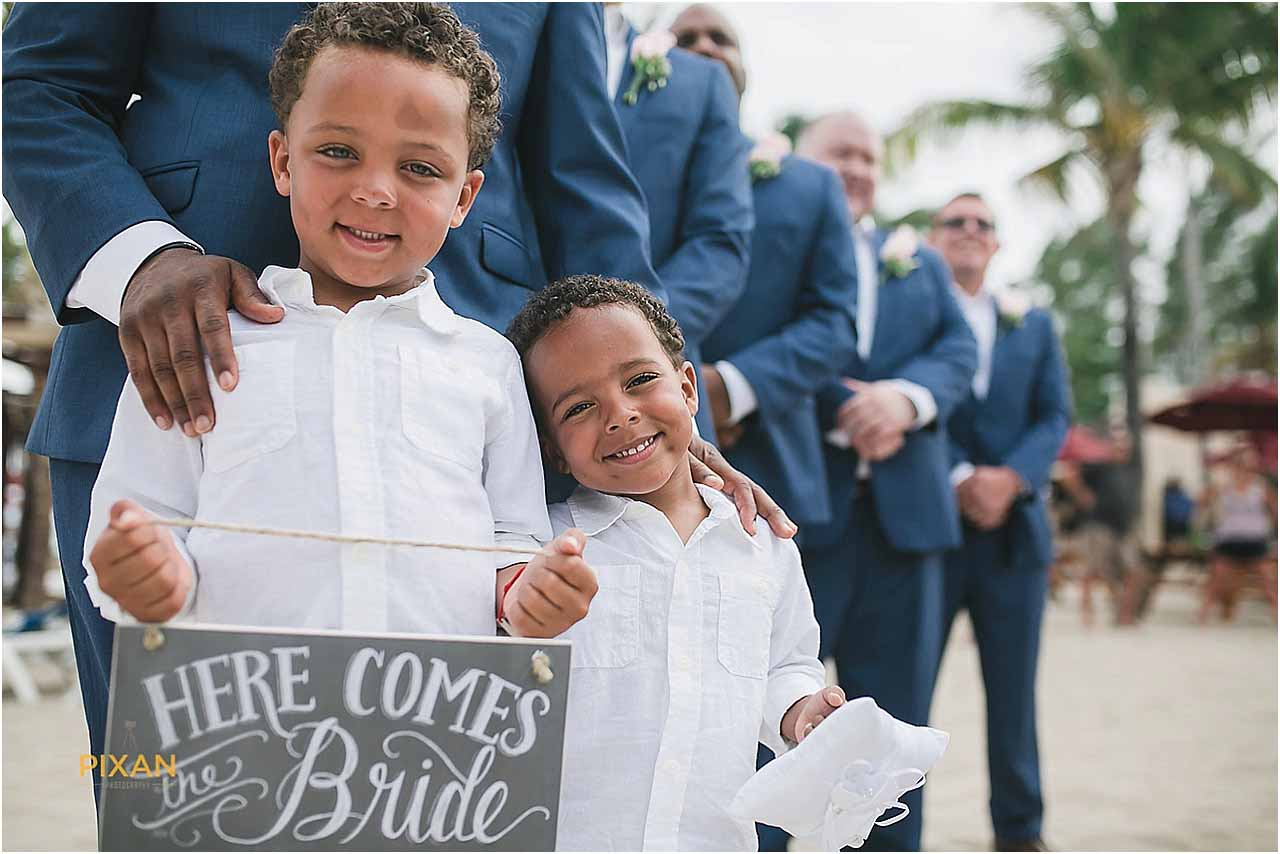 Ring bearers at Azul Fives Hotel Wedding