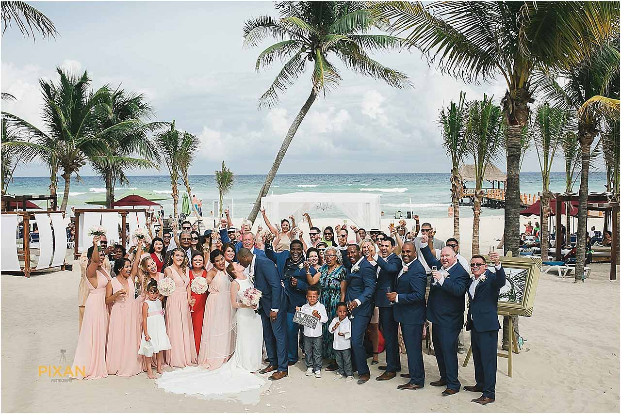 Beach Ceremony Azul Fives Hotel Wedding