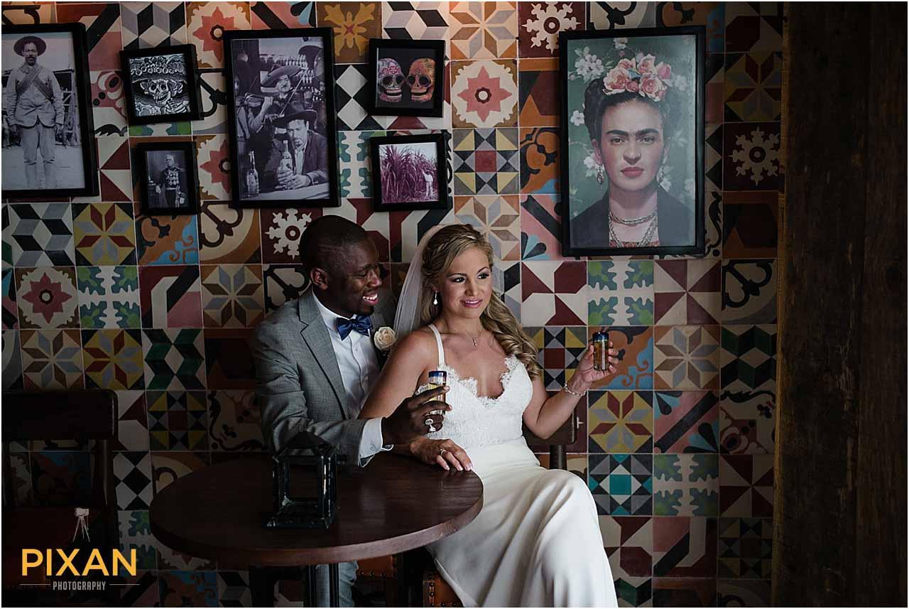 Couple photography Azul Fives wedding