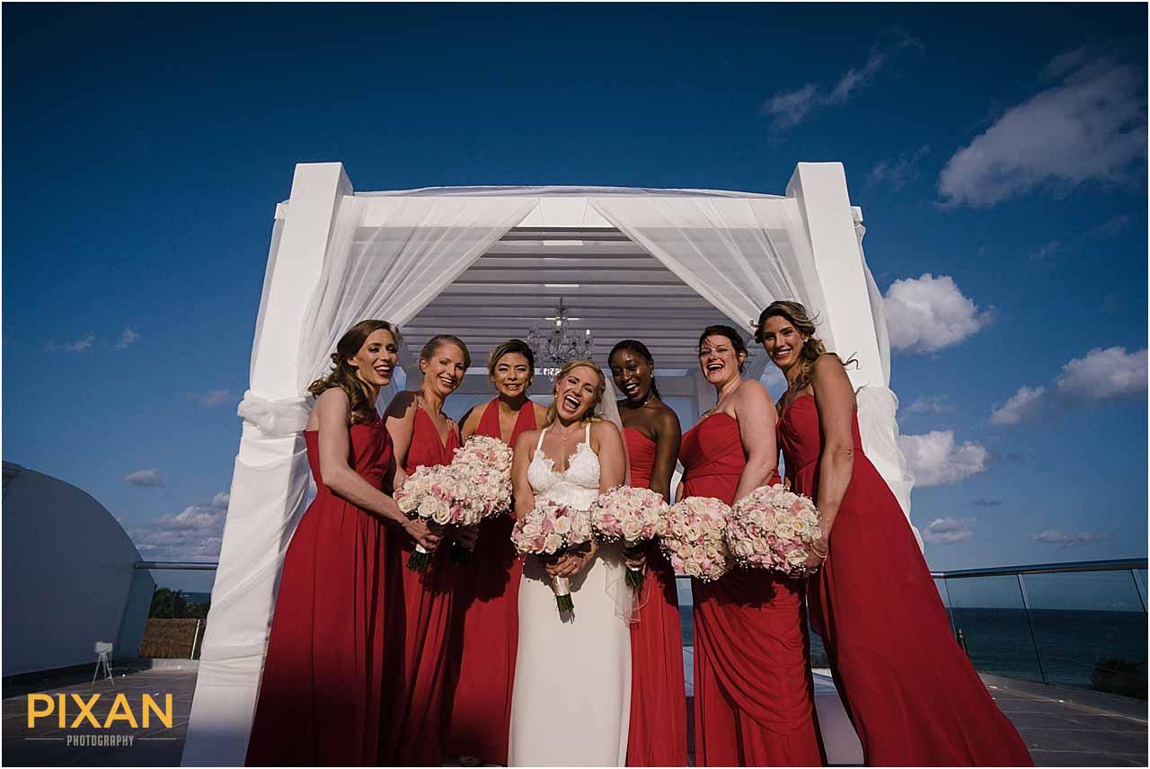 Bridesmaid portraits Azul Five wedding