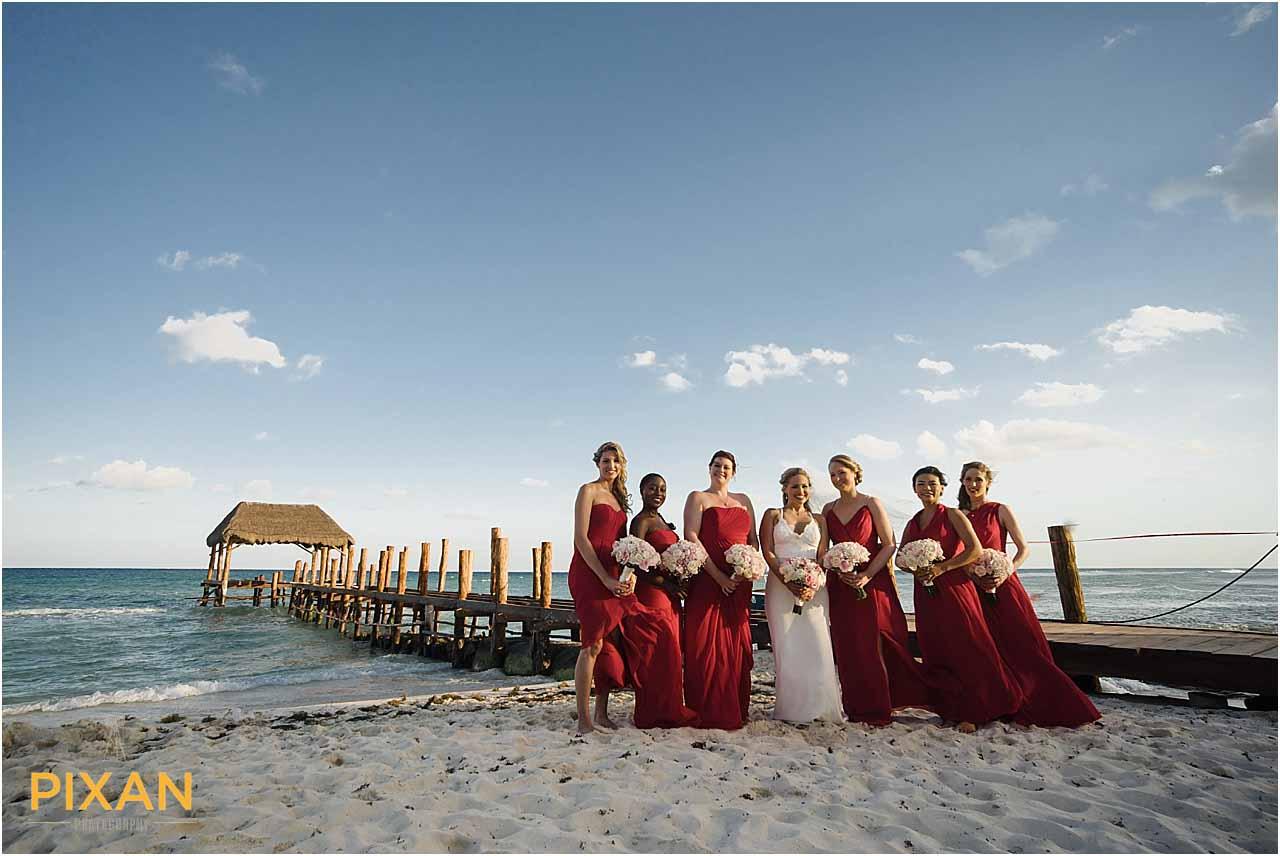 Bridal party photos Azul Five wedding