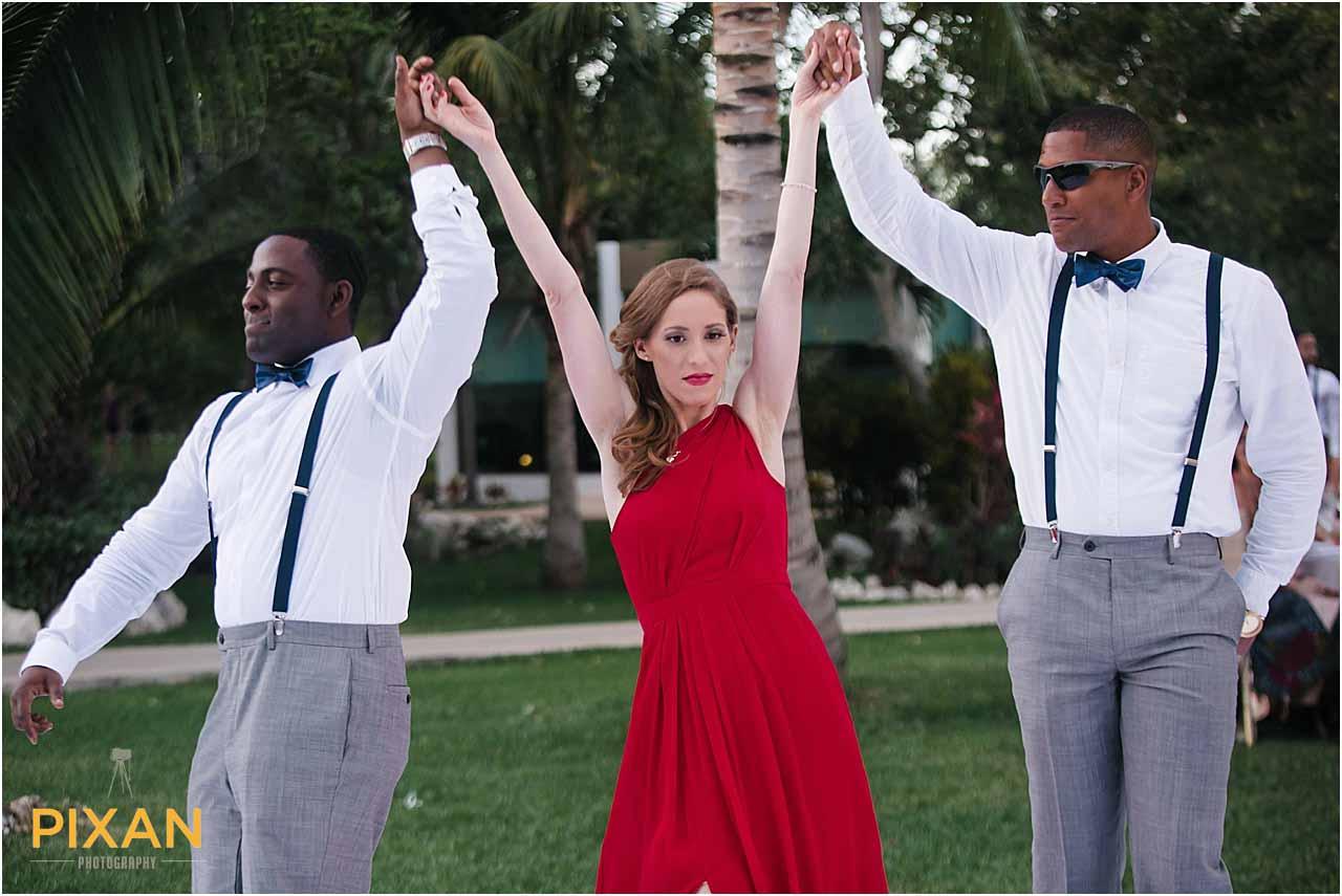 wedding party photos Azul Five wedding