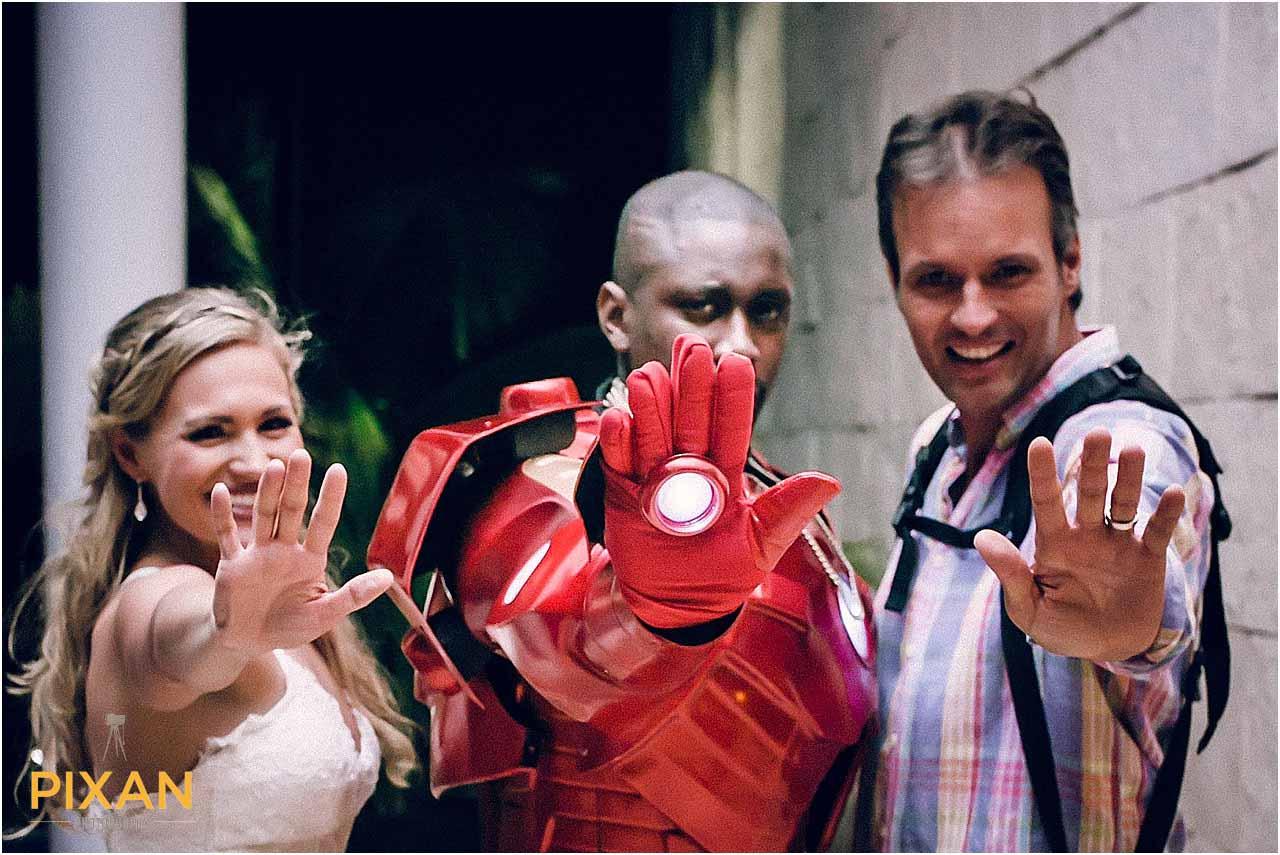 Iron Man Playa del Carmen wedding