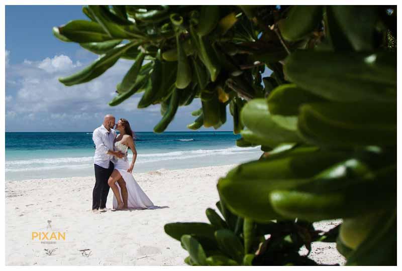 Hyatt Zilara beach wedding portraits, Cancun