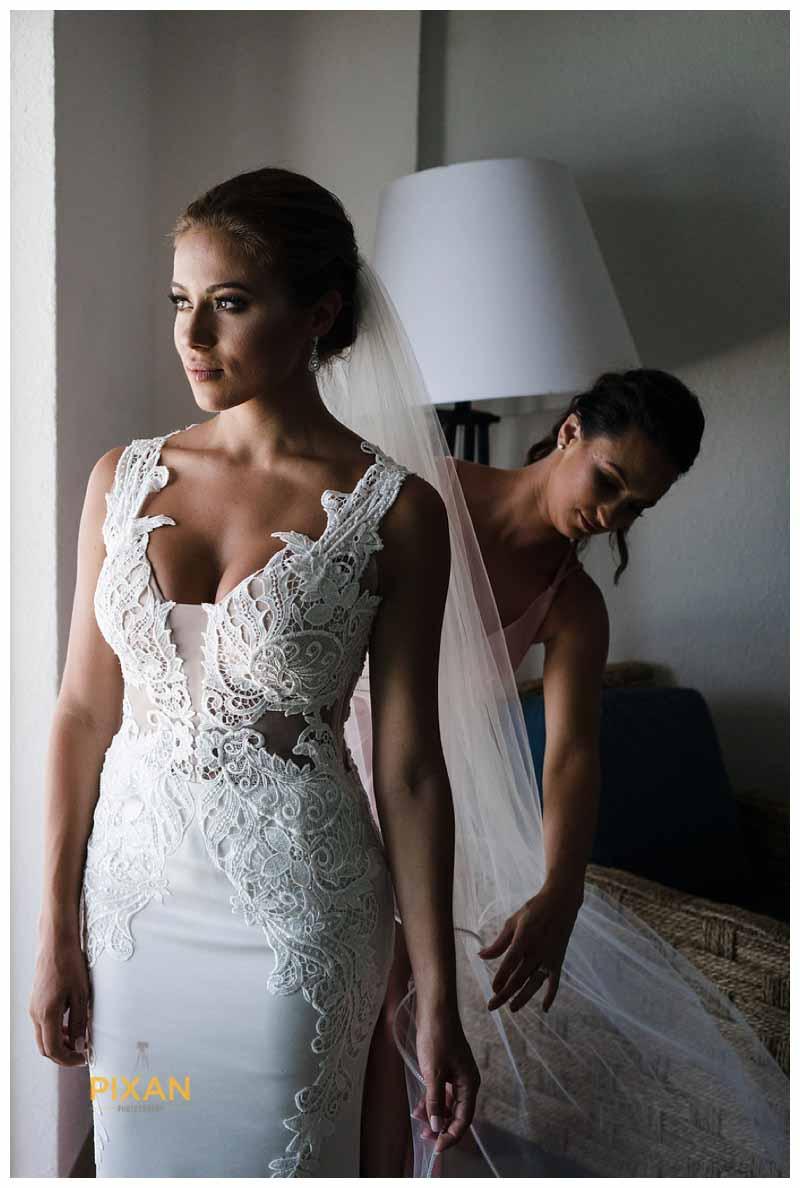 Pnina Tornai wedding gown from Kleinfelds NYC for Hyatt Zilara wedding