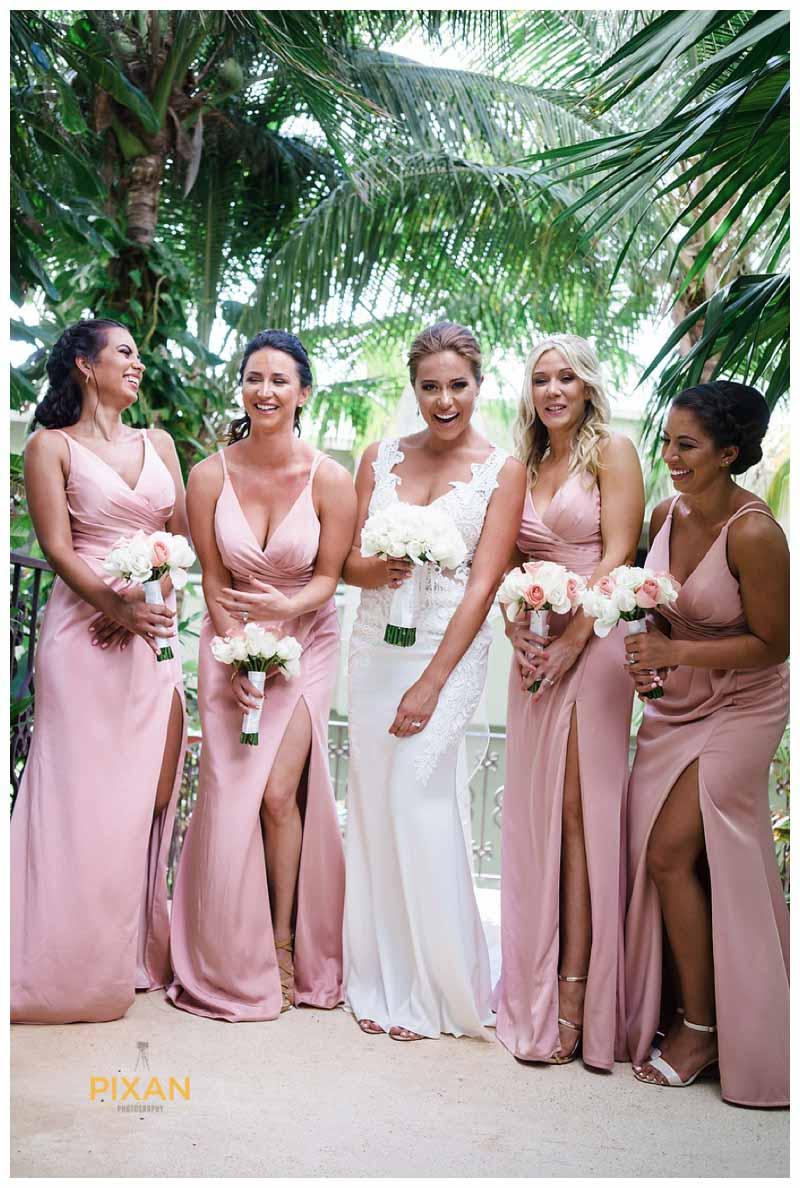 Bridesmaid photos Hyatt Zilara wedding, Cancun