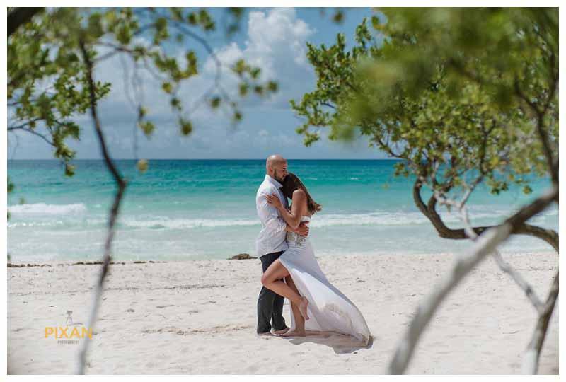 Hyatt Zilara beach wedding couple portraits