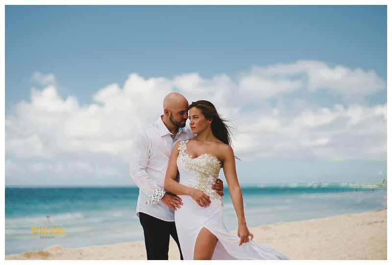 Cancun beach wedding photos