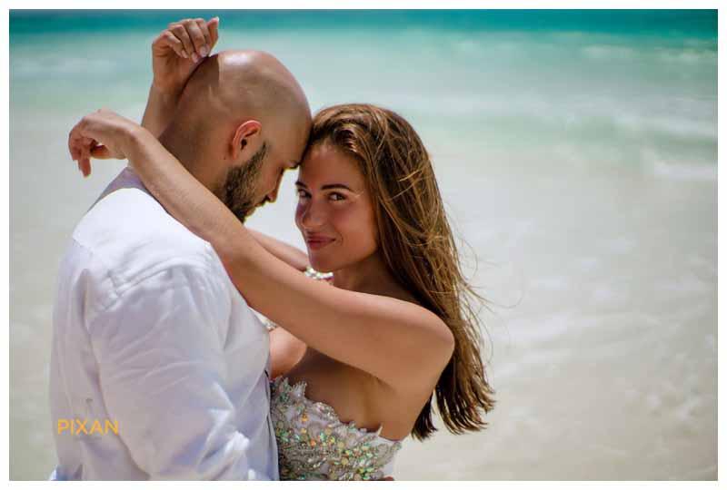 Cancun beach wedding photos - Hyatt Zilara