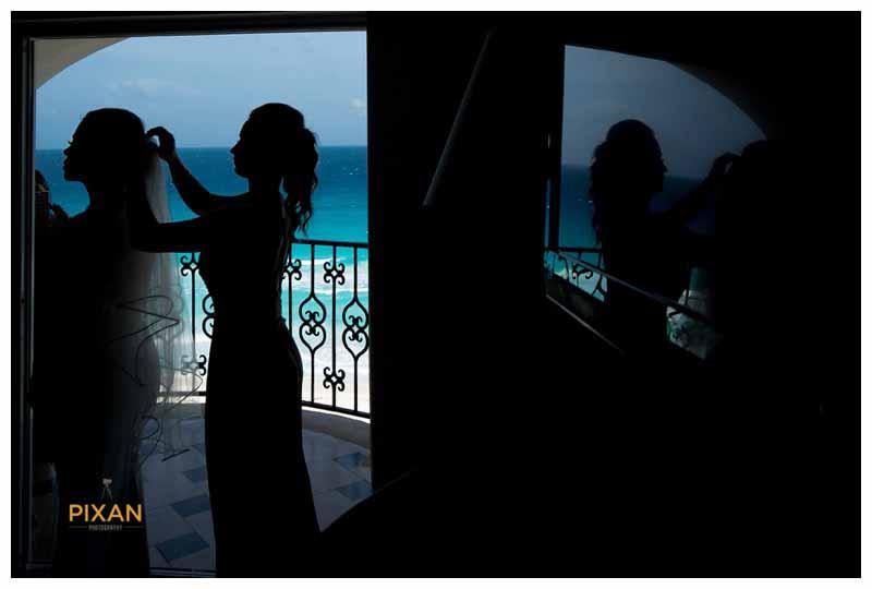 Bridal photography Hyatt Zilara wedding